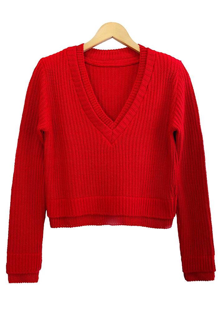 Blusa Tricô LUANA Vermelho