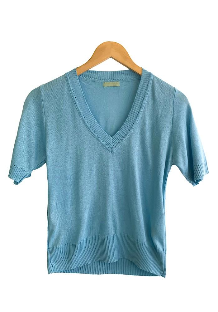 Blusa Tricô RAICA Azul