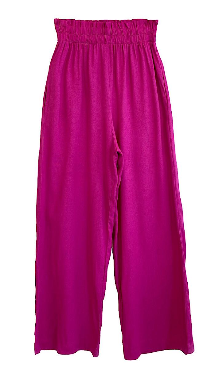 Calça Feminina Pantalona BEATRIZ Fúcsia