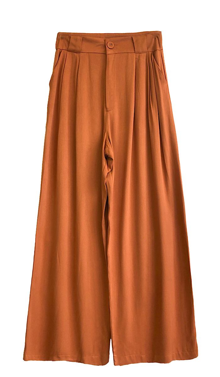 Calça Feminina Pantalona MARIANA Caramelo
