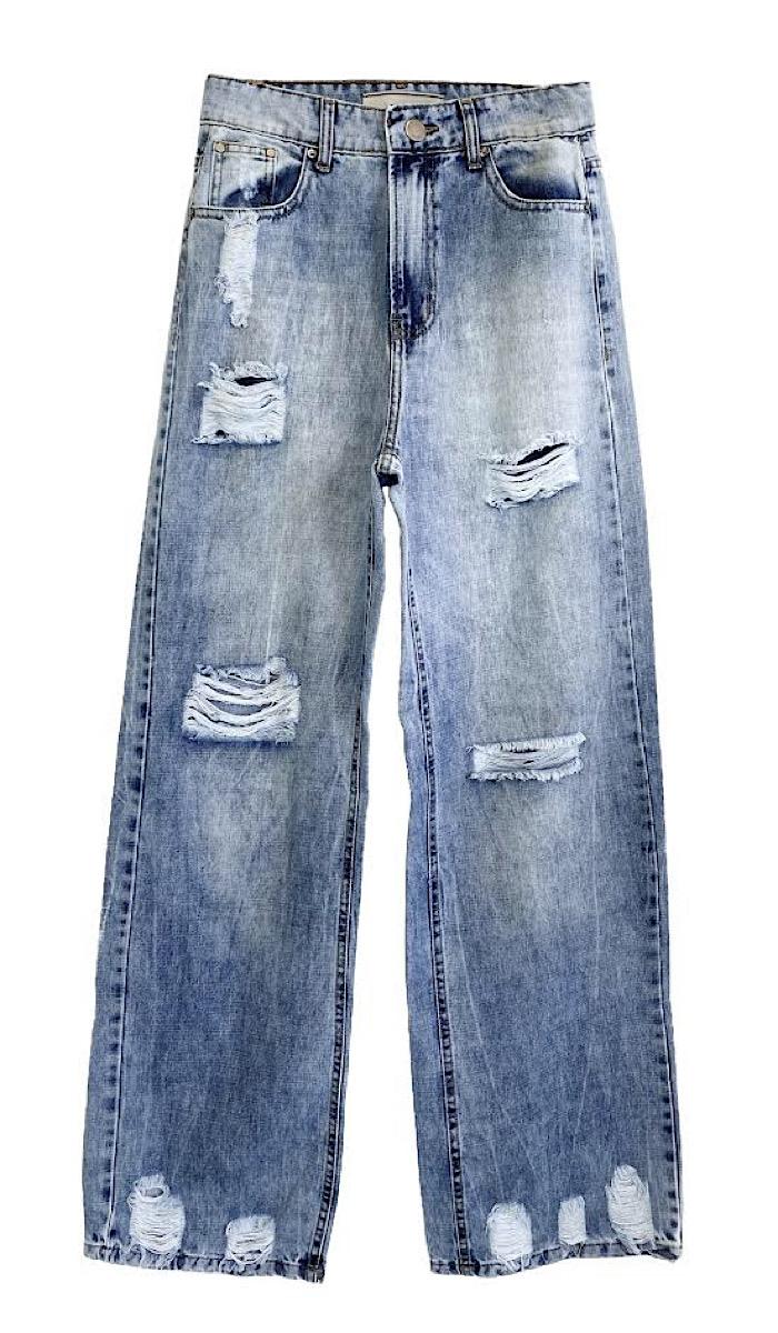 Calça Jeans Feminina DESTROYED
