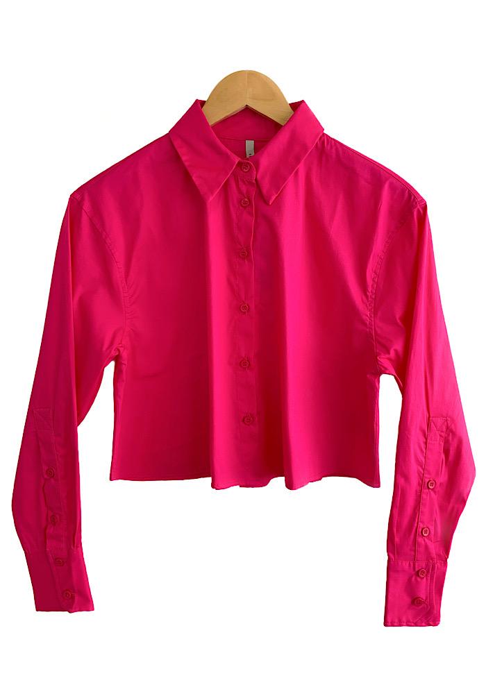 Camisa Cropped IT Pink