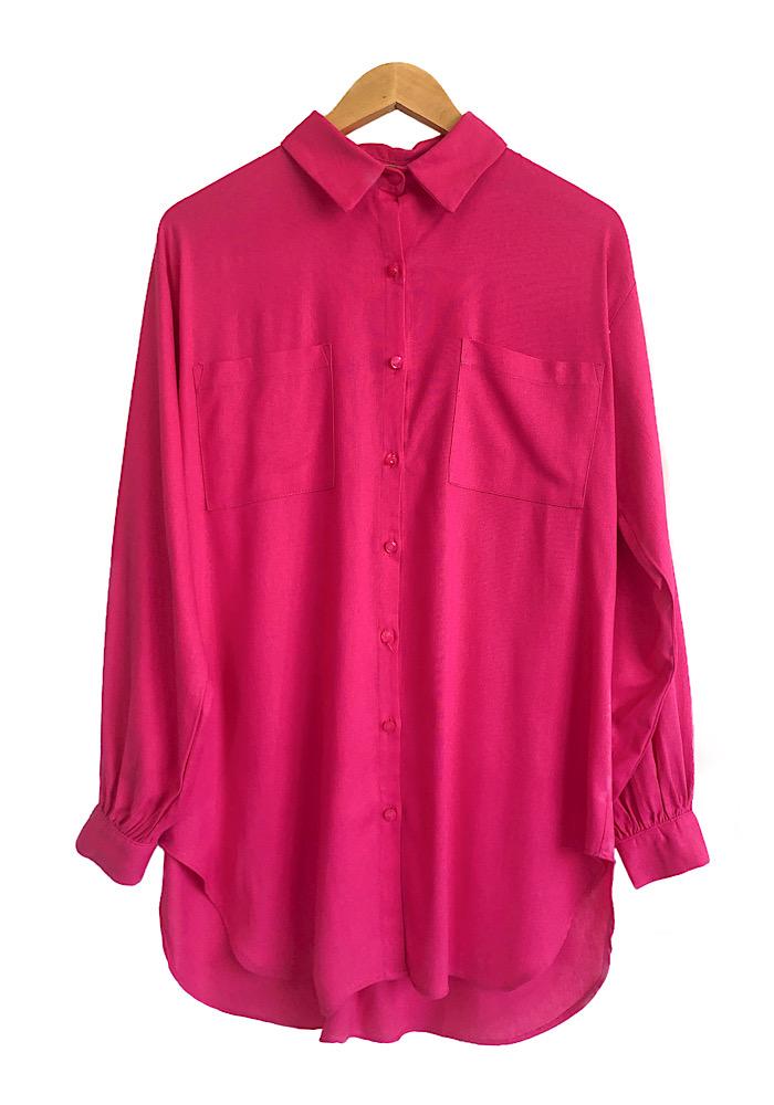 Camisa Feminina Linho ISADORA Pink