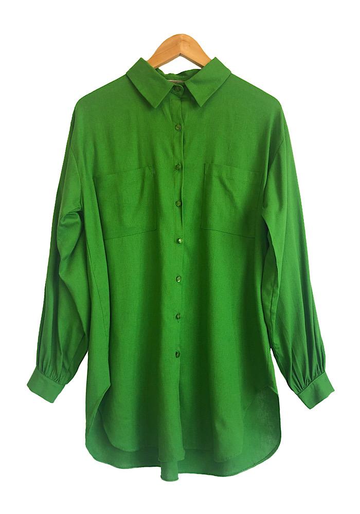 Camisa Feminina Linho ISADORA Verde