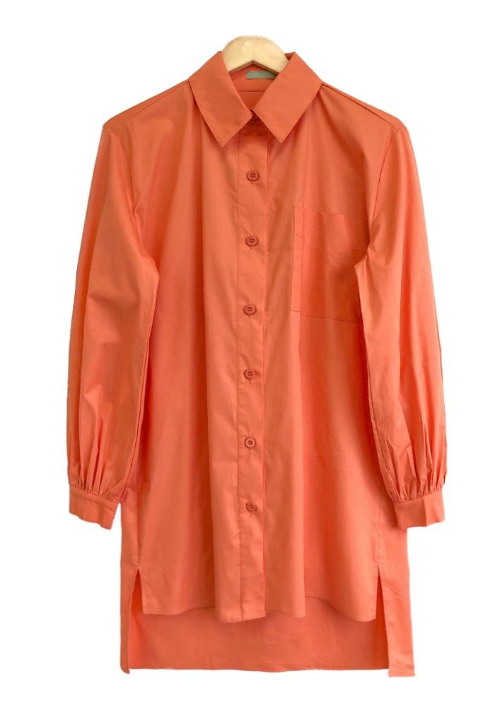 Camisa Maxi Feminina SUMMER Laranja