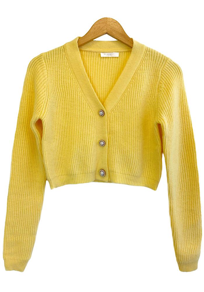 Casaco Feminino Tricô ISADORA Amarelo