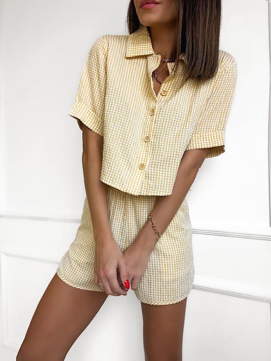 Conjunto Feminino JULIE Amarelo