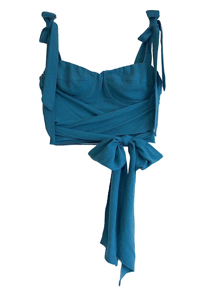 Cropped CARMELA Azul