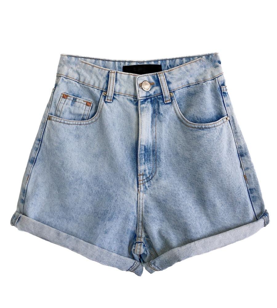Shorts Feminino MOM Claro