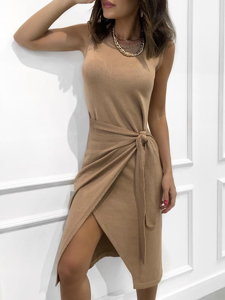 Vestido RAFAELA Camel