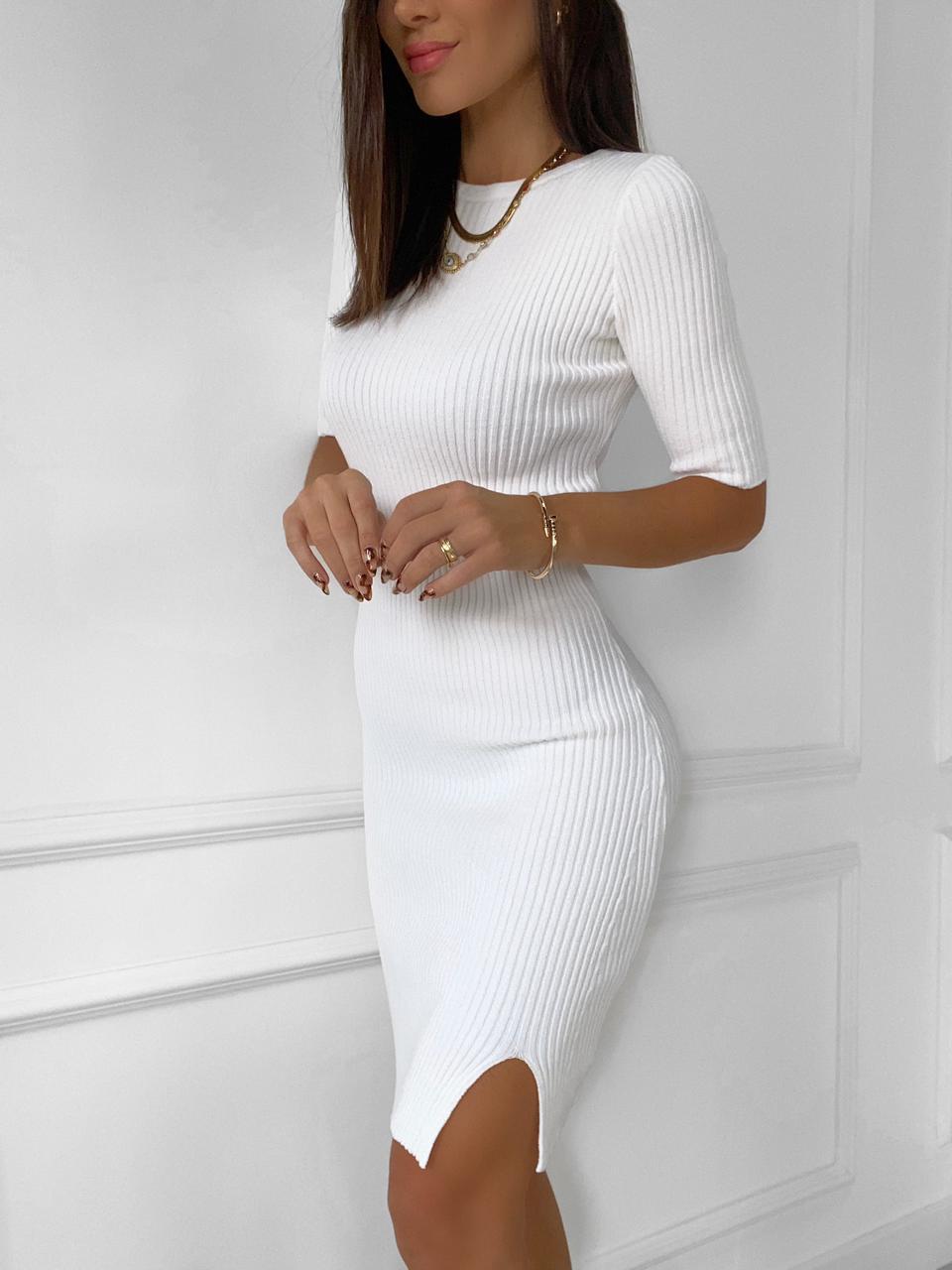 Vestido Tricô PIETRA Branco