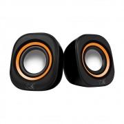 Caixa de Som Maxprint Sound Bar USB Preto e Laranja 5V - 6013447