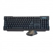 Kit Teclado e Mouse Wireless Preto Cinza Maxprint 6011301