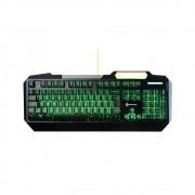 Teclado Gamer Goldentec Legend LED Backlight Verde Aluminium Edition