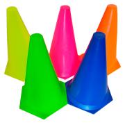 Kit C/ 10 Cones de Plástico Rígido 23cm Prouno