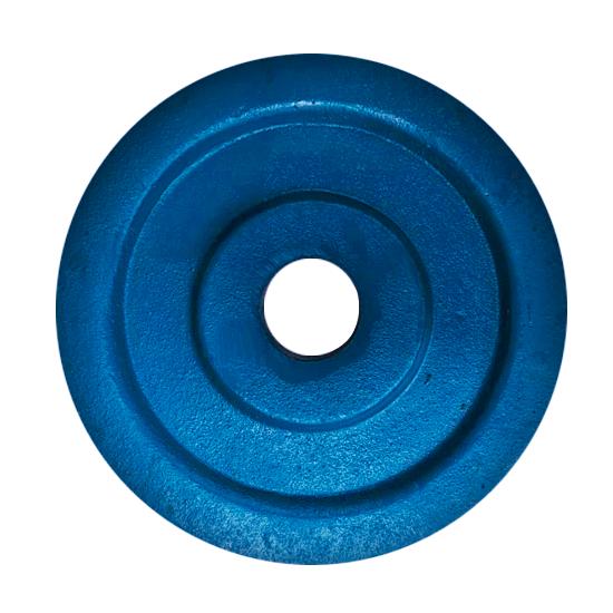 Anilha 03 Kg Ferro Fundido Pintado com furo de 32mm