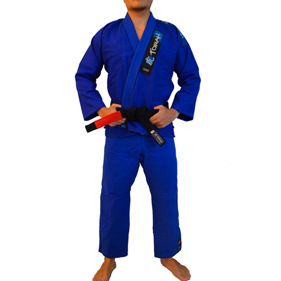 Kimono de Jiu-jitsu Torah Trançado Plus Adulto Azul