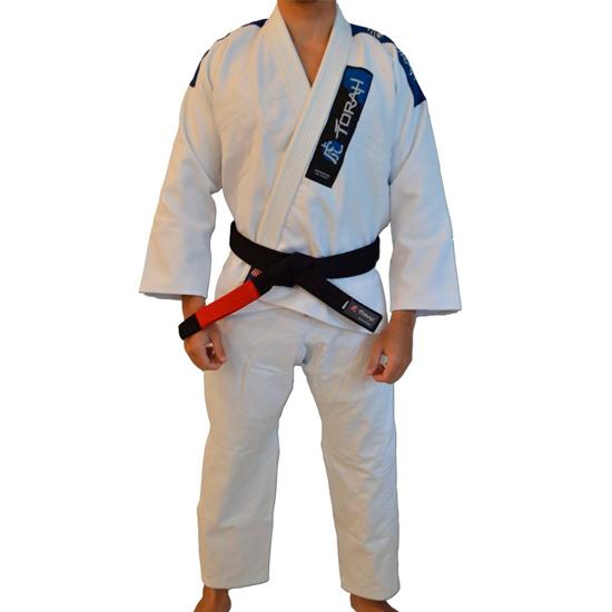 Kimono de Jiu-jitsu Adulto  Trançado Plus Torah Branco