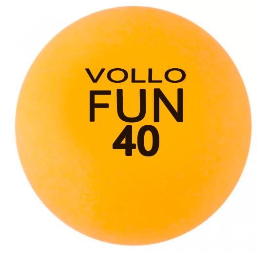 Kit C/ 10 Unidades de Bola Tênis de Mesa Vollo Fun 40