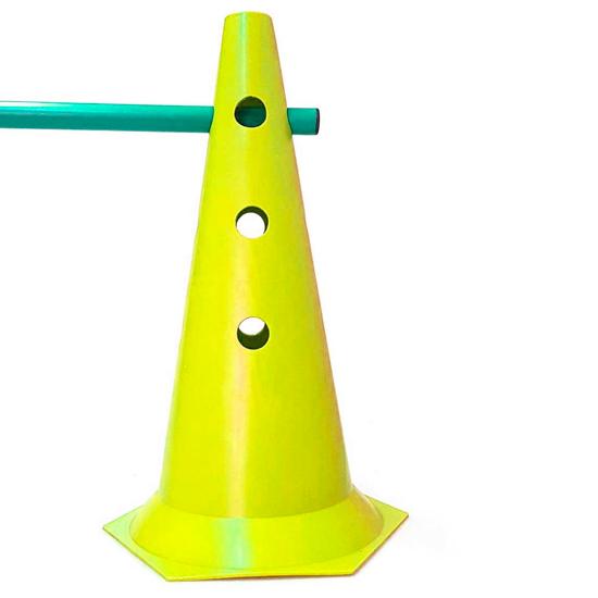 Kit de Agilidade 2 Cones 50cm + 1 Barra 1m