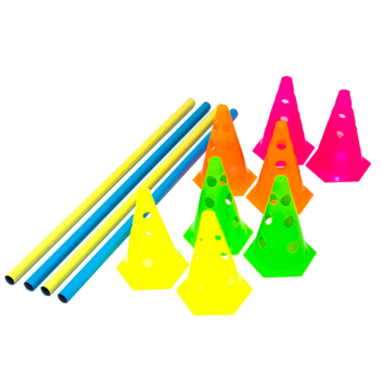 Kit Barreira de Salto 8 Cones 23cm + 4 Barra 1mm Prouno