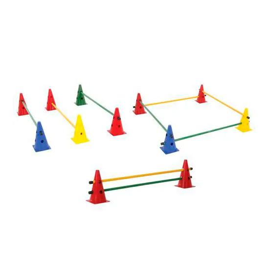 Kit Barreira de Salto 8 Cones 23cm + 4 Barra 1m Prouno