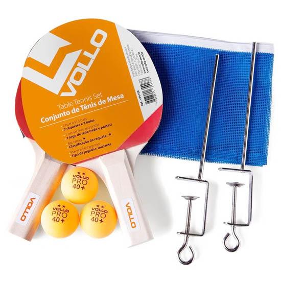 Kit Tênis De Mesa Vollo 2 Raquete 3 Bolas 1 Rede