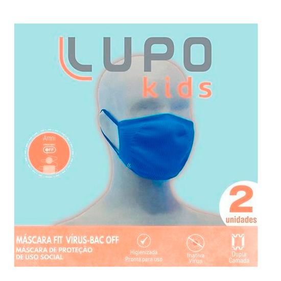 Máscara Fit Vírus Bac-Off Infantil Lupo