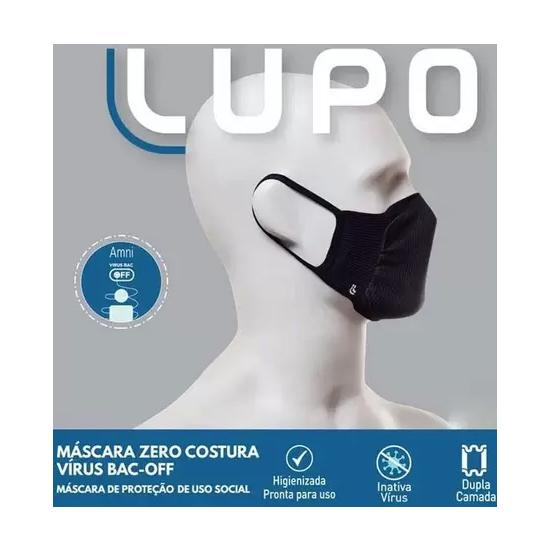 Máscara Fit Vírus Bac-Off Lupo