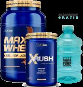 Combo Blue Series - MAX WHEY + X RUSH PRE TREINO + GALÃO PWR PUMP