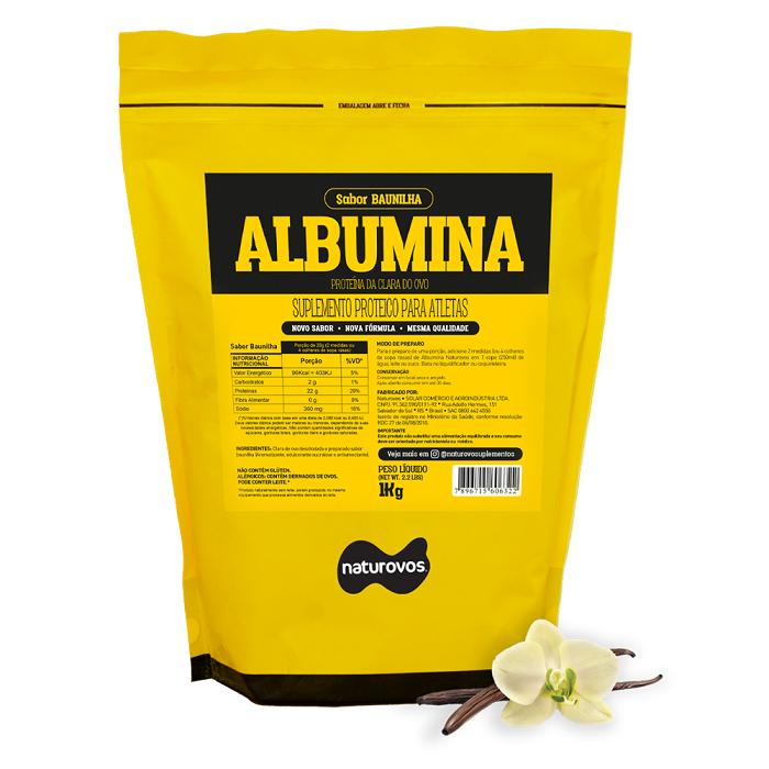 ALBUMINA (500g) BAUNILHA - NATUROVOS - 025