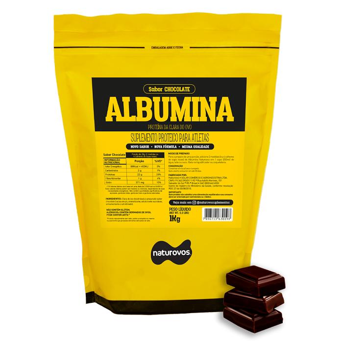ALBUMINA (500g) CHOCOLATE - NATUROVOS - 025
