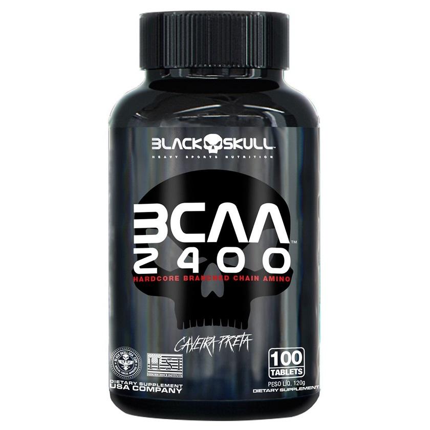 BCAA 2400 100 TABLETES BLACK SKULL - 011