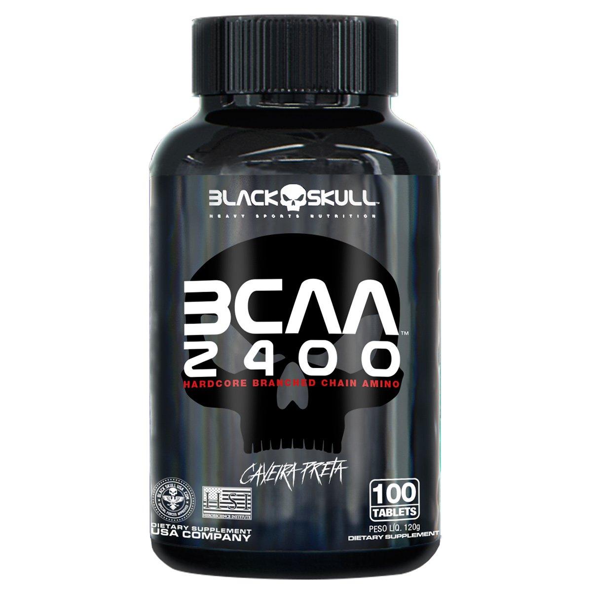 BCAA 2400 100 TABLETES -Black Skull