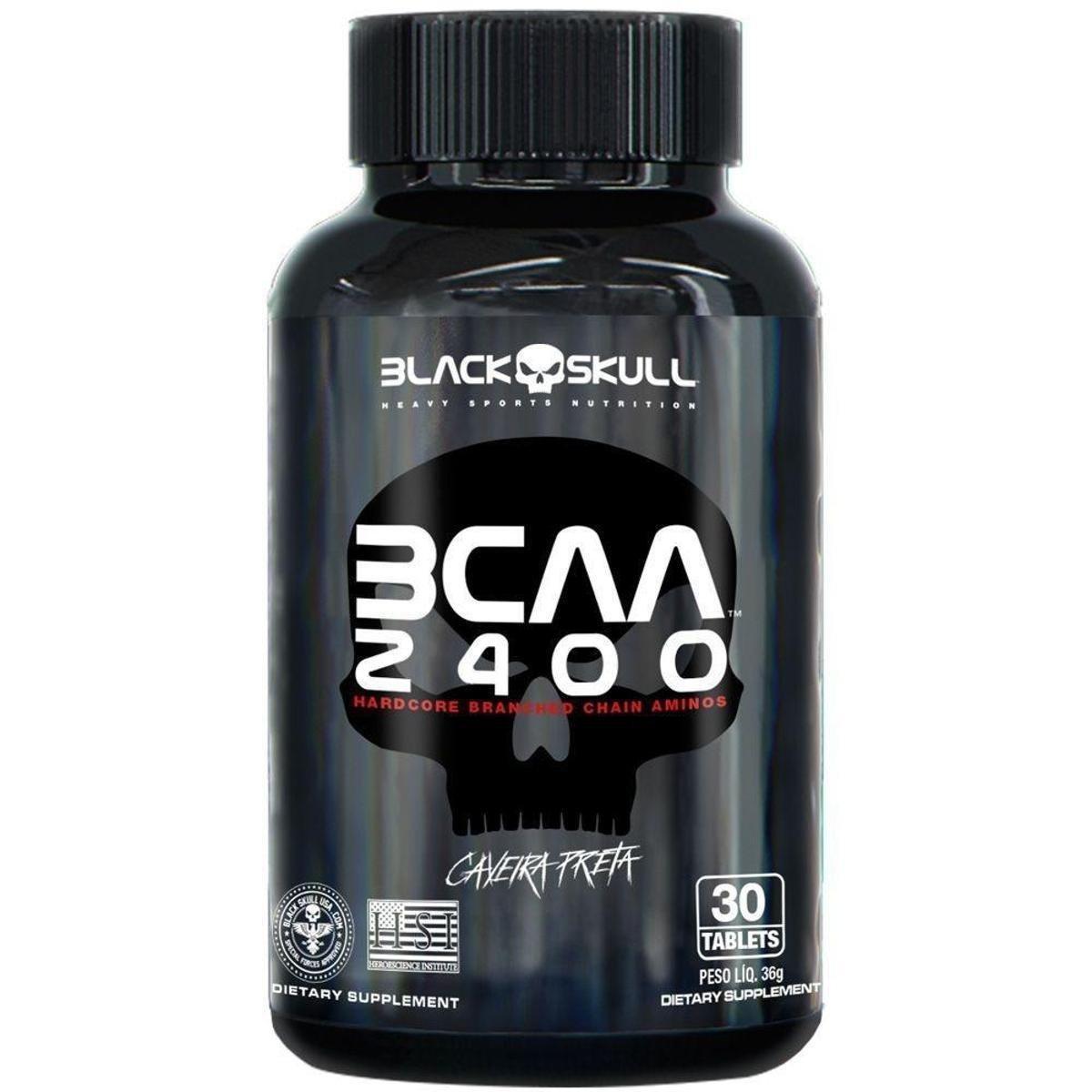 BCAA 2400 30 TABLETES BLACK SKULL - 011