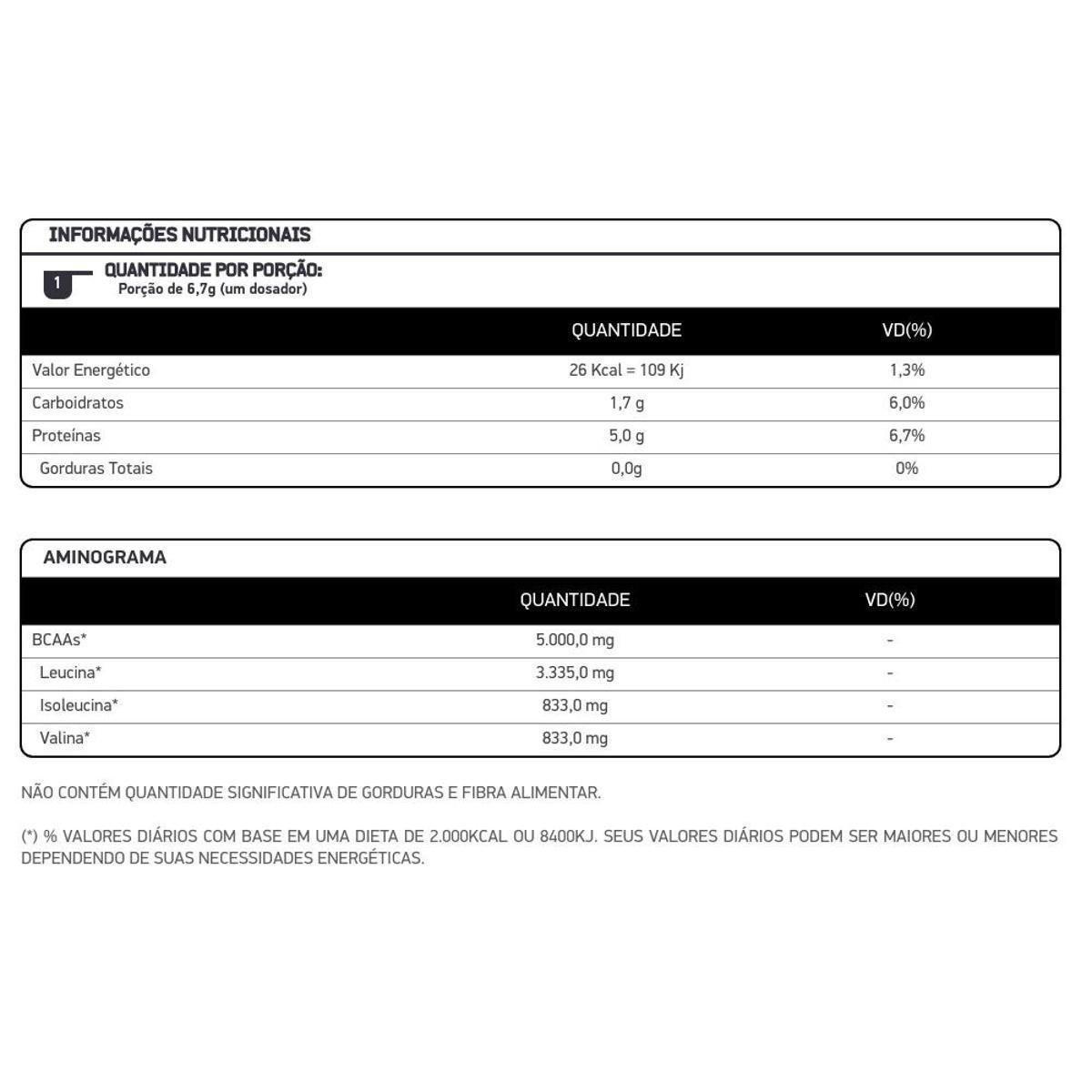 BCAA Powder Abacaxi - Pote 200g