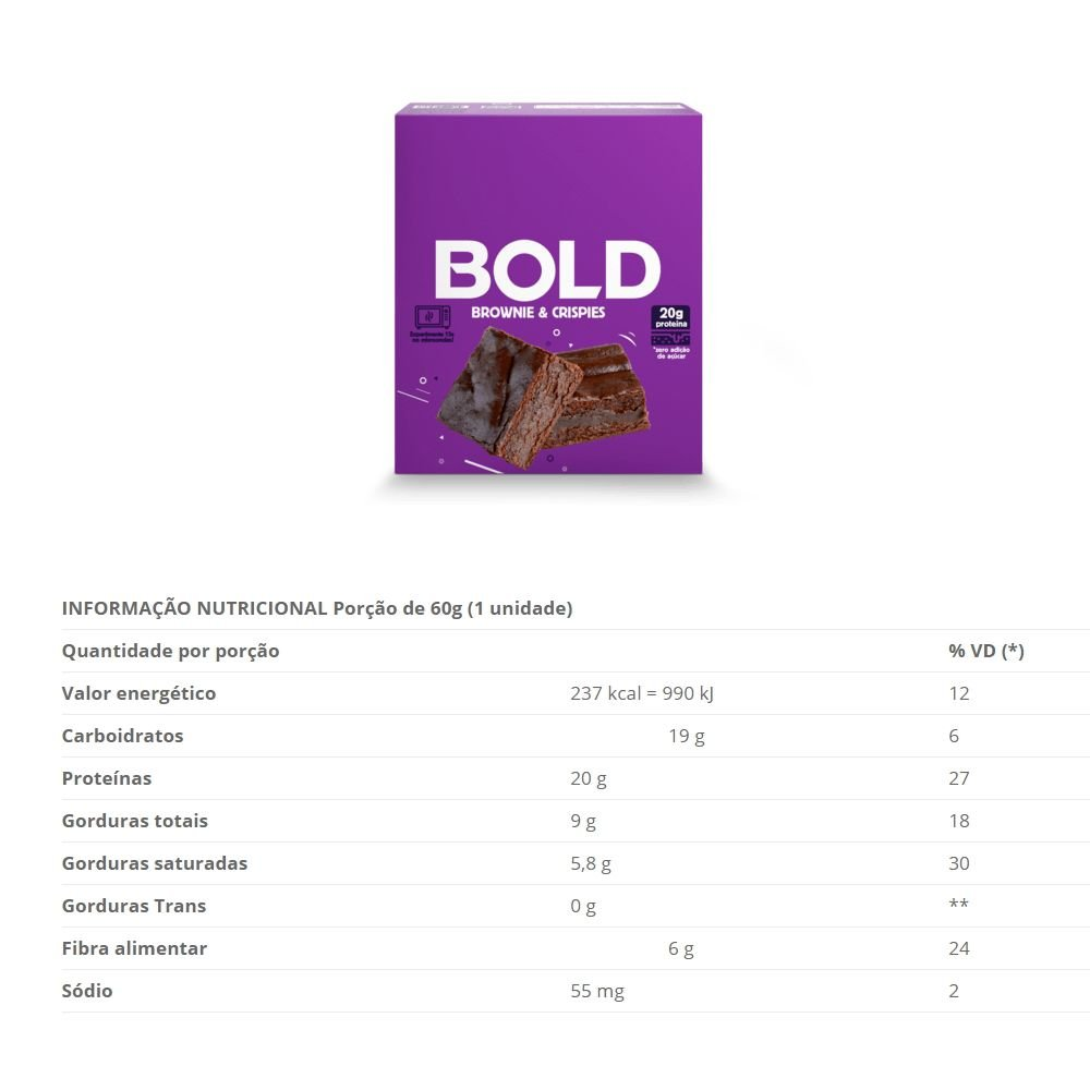 BOLD BAR BROWNIE & CRISPIES - 018