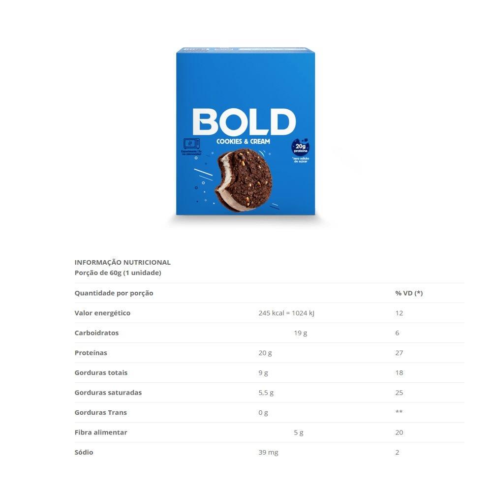 BOLD BAR COOKIES & CREAM - 018
