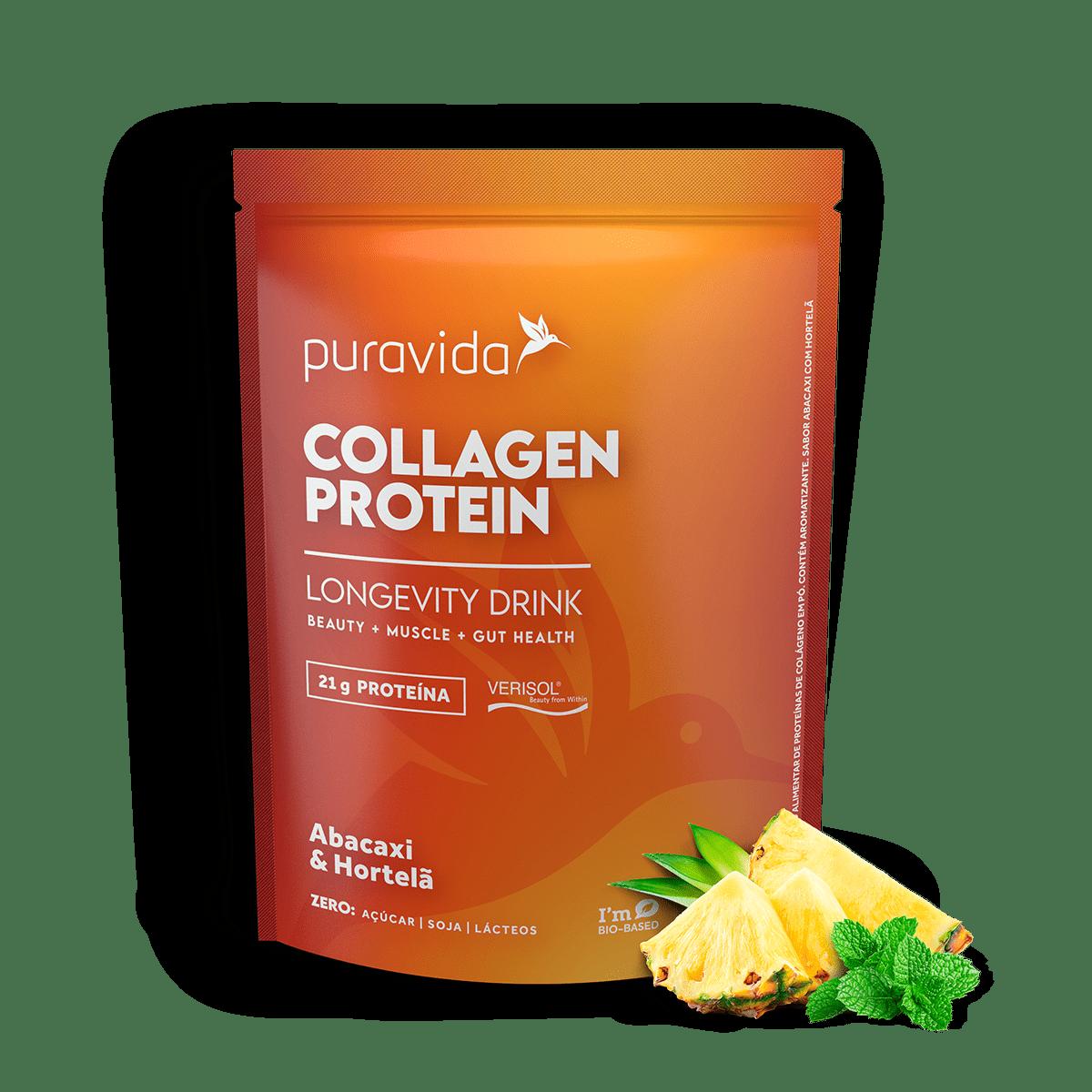 Collagen Protein Abacaxi e Horteã 450g - PURA VIDA
