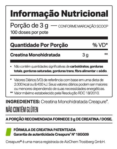 CREADOP creapure (300g) - ELEMENTO PURO