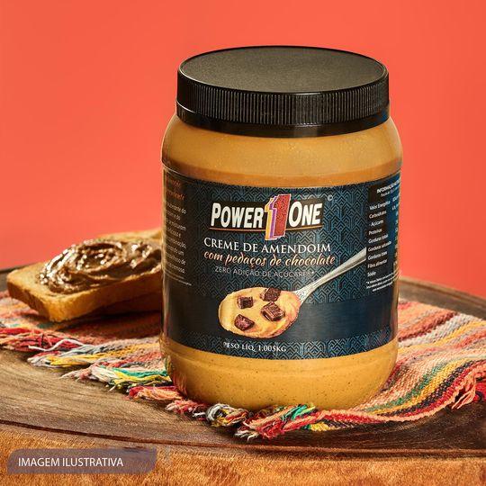 Creme de Amendoim Power One - sabor Chocolate 50% 1kg