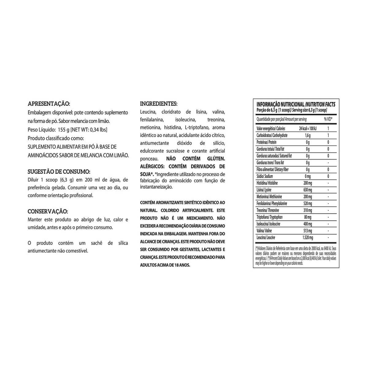 EAA 9 (155g) LIMAO  - INTEGRALMEDICA