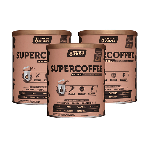 Kit 3x SUPERCOFFE 220G - CAFFEINE ARMY