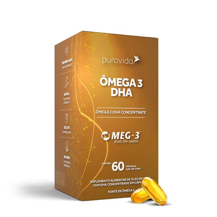 Omega 3 DHA 60 Caps - PURA VIDA