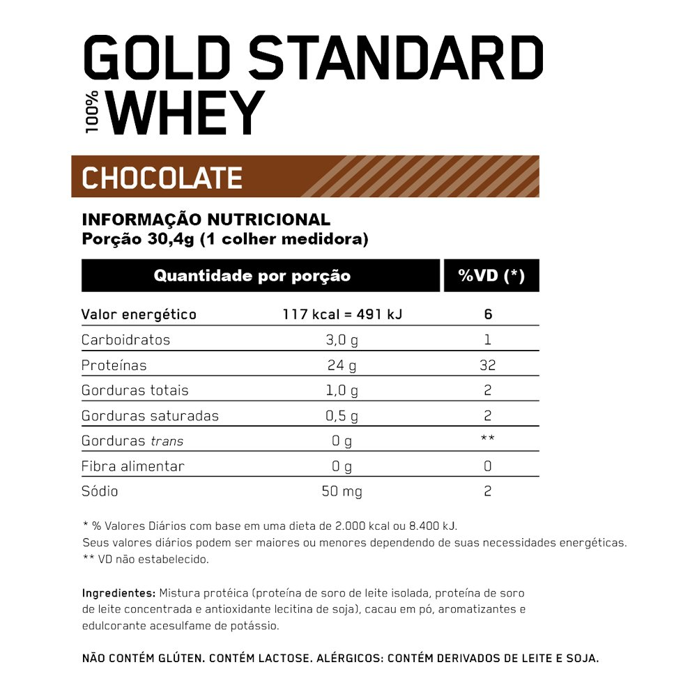 ON WHEY GOLD STANDARD BAUNILHA 2,00 LBS (907G)