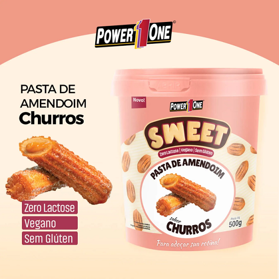 Pasta de Amendoim Sweet Power One - Churros 500 G