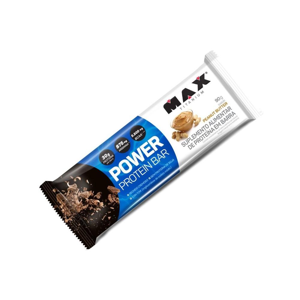 Power Protein Bar Amendoim - Max Titanium - 053