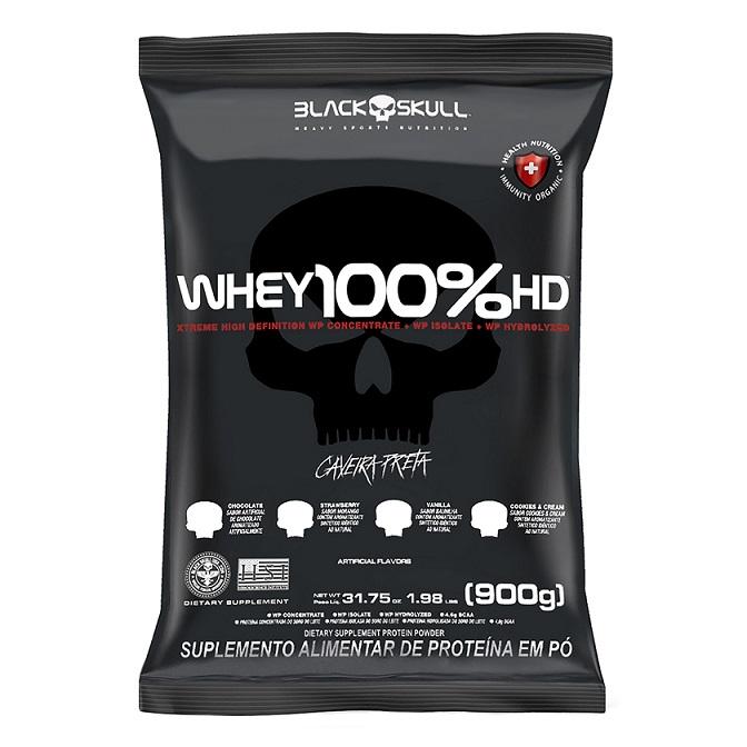WHEY 100% HD CHOCOLATE 900G REFIL BLACK SKULL - 056