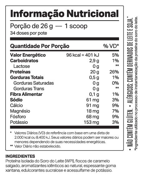 WHEYDOP ISO 900g BAUNILHA CARAMEL. - ELEMENTO PURO - 029