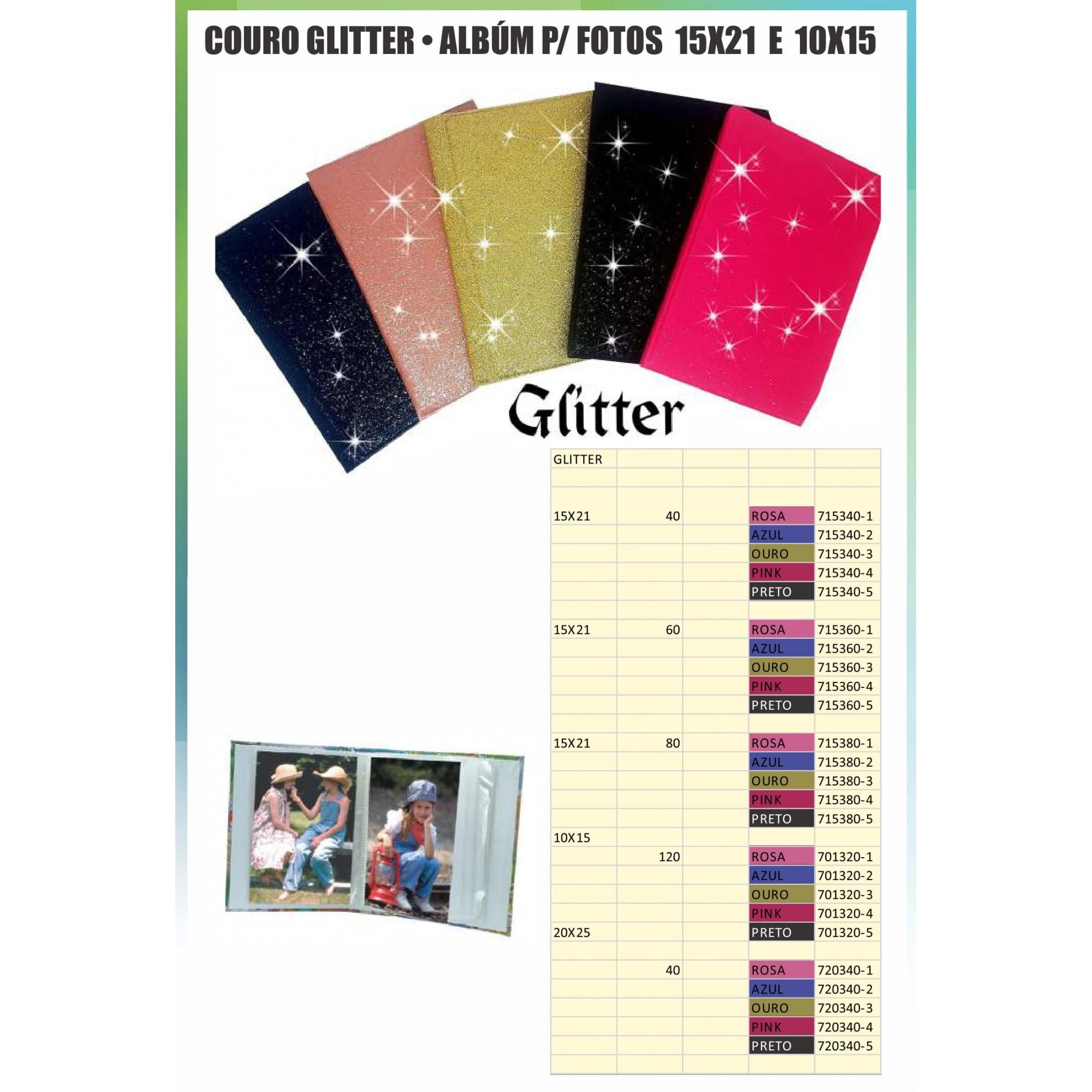 1 Album 10x15 120 Fotos Veludo Couro Ou Glitter